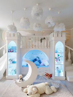 Bed For Girls Room, Cool Kids Bedrooms, Kids Bedroom Designs, Cute Bedroom Ideas, Playroom Design, Room Design Bedroom, Room Ideas Bedroom, Kids Room Design, Awesome Bedrooms