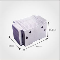 Alibaba Trade Assurance Supplier supply Aluminum heat sink with press fit Fins, customized designs are welcome .