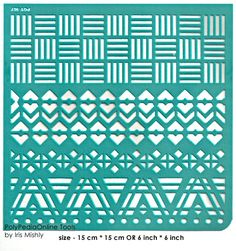 Stencil Stencils Pattern Template Geo Borders 6 by irismishly (Craft Supplies & Tools, Scrapbooking Supplies, Embellishments & Die Cuts, silk screen, self adhesive, stencils projects, collage supplies, scrapbook supplies, paper crafts, stencil paper, adhesive vinyl, stencils, soft stencils, stencil, pattern, template)