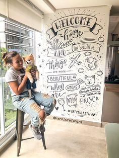 Chalkboard Wall Bedroom, Blackboard Wall, Chalk Wall, Chalkboard Lettering, Comfy Cozy Home, Doodle Wall, Wall Painting Decor, Wall Drawing, Blackboards