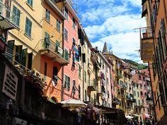 Streets of Riomaggiore, Cinque Terre, Italy.
