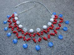 Oksana Plus Hobbies: Bib Style Necklace Tutorial (Сделай сам: Колье на цепочке)