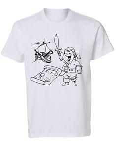 Kleur je shirt Piraat