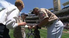 Watch 105-year-old throw first pitch before the #Padres take on the #Mets at Petco Park. #baseball #agingwell