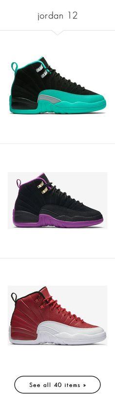 """""""jordan 12"""" by doggydoddyfroggymoppy ❤ liked on Polyvore featuring shoes, jordans, sneakers, jordan 12, men's fashion, men's shoes, men's sneakers, mens sneakers, mens retro sneakers and mens shoes"""