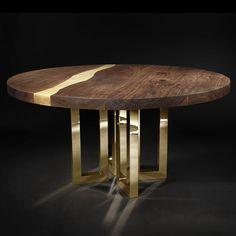 Tavolo da pranzo / design originale / in nichel / in bronzo IL PEZZO 6 Il Pezzo Mancante