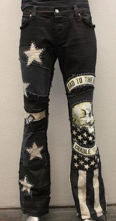 Wornstar clothing clothes amp outfits i like in 2019 pants Skull Fashion, Punk Fashion, Diy Fashion, Fashion Outfits, Punk Outfits, Gothic Outfits, Mode Outfits, Denim Art, Denim Ideas