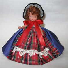 "Nancy Ann Storybook BISQUE Doll #174 ""Flossie Goes to Dublin"" 5.5"" EXCELLENT #NancyAnnStoryBook"