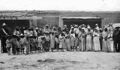 Yaqui women and children held as prisoners circa 1912