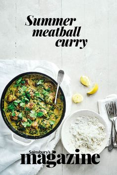 A vibrant one pot lamb curry, ideal for those summery weekday meals Recipe Box, Recipe Ideas, Curry Recipes, Healthy Recipes, Best Curry, Lamb Meatballs, Lamb Curry, Thai Dishes, Weekday Meals