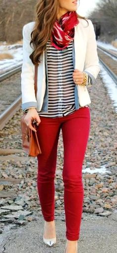 #winter #outfits white jacket