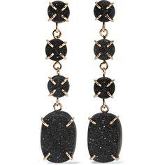 Melissa Joy Manning 14-karat gold druzy earrings (99.335 RUB) ❤ liked on Polyvore featuring jewelry, earrings, gold, sparkle jewelry, druzy jewelry, handcrafted earrings, drop earrings and 14k jewelry