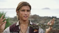 A chip off the old block! A new featurette has confirmed Australian actor Brenton Thwaites will be playing the son of one of Disney's biggest characters in the upcoming Pirates Of The Caribbean film