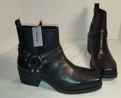NEW WOMEN'S VAGABOND ARIANA BLACK LEATHER HARNESS ANKLE BOOTS US 10 EUR 40 #Vagabond #HARNESS