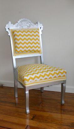 Cassandra Design: Yellow Chevron Chair For Bridal Showcase | Home Decor To  Do | Pinterest | Yellow Chevron, Vanities And Organizations