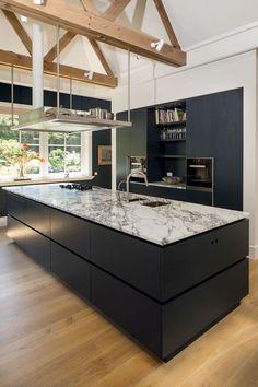 Rustic Kitchen Design, Kitchen Room Design, Home Decor Kitchen, Beautiful Kitchen Designs, Beautiful Kitchens, Kitchen Workshop, House Extension Design, Open Plan Kitchen Living Room, Modern Kitchen Interiors