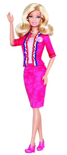 Mattel announced the next Barbie I Can Be Career Doll - President! Barbie for president! :)