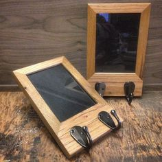 Good Perry And Co   Pittsburgh Custom Modern Furniture   Reclaimed Oak Picture  Frame Wall Hangers
