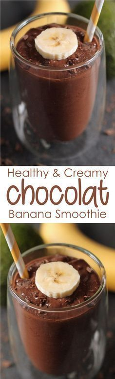 This Chocolate Banana Smoothie is rich with protein, vitamins and antioxidants; the addition of milk provides a healthy dose of nutrients. #ChocolateBananaSmoothieprotein #ChocolateBananaSmoothiehealthy #ChocolateBananaSmoothierecipe #ChocolateBananaSmoothiepeanutbutter