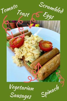 This is one of my favourite weekend Slimming World breakfast recipes. Check out my blog for loads more Slimming World recipes. Vegetarian Breakfast, Vegetarian Dinners, Breakfast Recipes, Vegetarian Recipes, Healthy Recipes, Quorn Recipes, Sausages In The Oven, Slimming World Breakfast