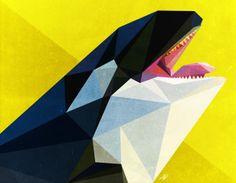 Awesome geometric prints - Orca (Killer Whale)