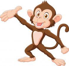 Monkey Icon, Monkey Art, Cartoon Wolf, Cartoon Monkey, Santa Hat Vector, Monkey Pose, Monkey Coloring Pages, Free Monkey, Wise Monkeys