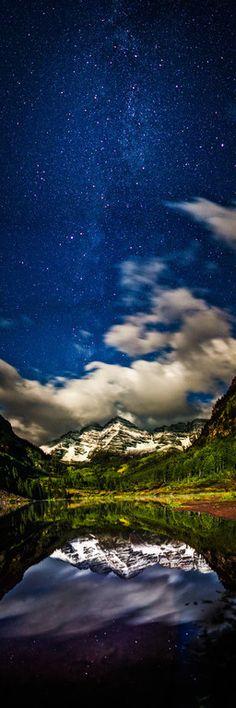 ~~The Maroon Bells under moonlight ~ Gunnison, Colorado by tmophoto~~