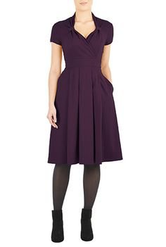 vintage style cotton knit dress - eShataki (LOVE this website)