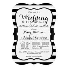 Black & White Couples Wedding Shower