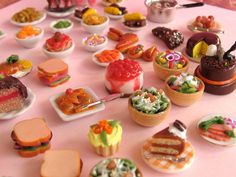 Grab Bag of Miniature Dollhouse Food by MotherMayI on Etsy, $24.00