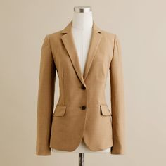 J.Crew Petite 1035 jacket in Super 120s ($110) ❤ liked on Polyvore featuring outerwear, jackets, blazers, suit, petite, pocket jacket, flap jacket, lined jacket, petite jackets and j crew jacket