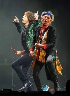 Keith Richards and Mick Jagger, 2014 Tour.