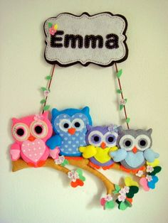 Owl family---Need to make some! Owl Crafts, Baby Crafts, Diy And Crafts, Crafts For Kids, Arts And Crafts, Sewing Crafts, Sewing Projects, Owl Family, Felt Owls