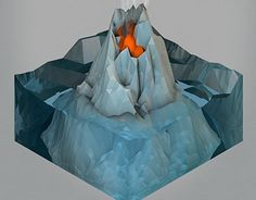 "다음 @Behance 프로젝트 확인: ""LOW POLY ICE(OMETRIC) VOLCANO "" https://www.behance.net/gallery/20901135/LOW-POLY-ICE(OMETRIC)-VOLCANO-"