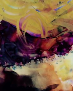 Abstract painting by Shirley Johnson. Alcohol ink and acrylic paint on Yupo