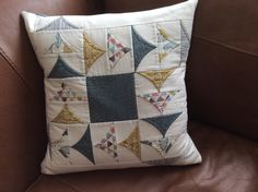 Flying geese cushion