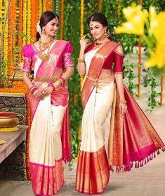 The Chennai Silks Advert! Finally out! Kerala Wedding Saree, Indian Wedding Wear, Indian Bridal Fashion, Saree Wedding, Gold Silk Saree, Bridal Silk Saree, Indian Dresses, Indian Outfits, Indische Sarees