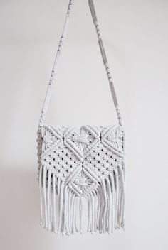 Macrame Bag Siena M Boho Bag with Fringes – Macrame Fringe Purse, Fringe Bags, Hippie Purse, Boho Hippie, Boho Crossbody Bag, Clutch Bag, Macrame Purse, Boho Bags, Macrame Projects