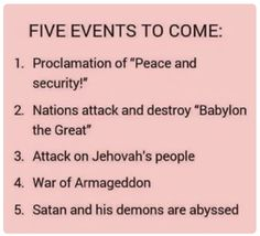 Bible prophecies show that shocking things will soon take place on earth. Consider what will happen and how you can endure