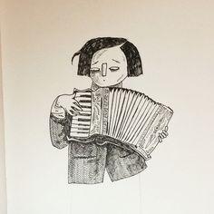 Sketchbook doodle #illustration #art #drawingnerd #drawing #copic #pen #sketchbook #sketch #accordion Accordion Instrument, Piano Accordion, Illustration Art, Illustrations, Copic, Inktober, Images, Folk, Creations