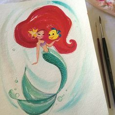 The Little Mermaid by Liana Hee painting