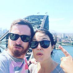 Only on #sydneyharbourbridge aren't we! @aligill9 by cesami_seed http://ift.tt/1NRMbNv