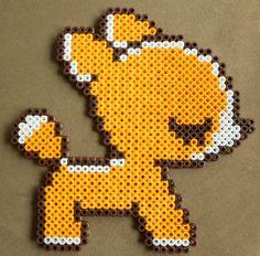 Sleepy deer perler bead sprite by ~nekomusume on deviantART