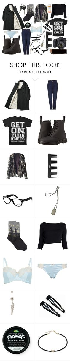 """""""Untitled #44"""" by jade-bellex ❤ liked on Polyvore featuring Topshop, Dr. Martens, Burkman Bros., Sephora Collection, Ray-Ban, Dsquared2, Eos, HOT SOX, Clips and Jacquie Aiche"""