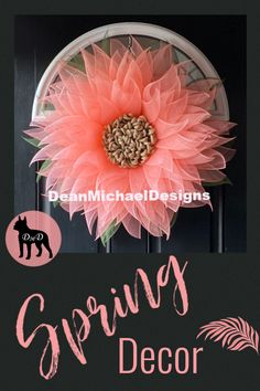 Decorate for Spring with DeanMichaelDesigns. Our flowers look good indoors or out. Brighten up a wall in your home. Add some color to your interior design. Spring wreaths for front door. Feel free to message us at DeanMichaelDesigns for more information. #spring #homedecor #wreath