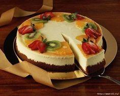 Чизкейк творожно-фруктовый. Очень нравится готовить такие быстрые и вкусные тортики, как этот чизкейк творожно-фруктовый. Простой рецепт и отлично сочетаемые ингредиенты.