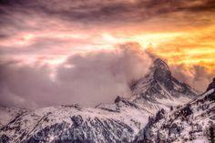 Fine Art Prints The Matterhorn with a volcano style sunset - Zermatt Photographe Lausanne Zermatt, Lausanne, Volcano, Mount Everest, Fine Art, Art Prints, Mountains, Sunset, Gallery