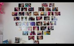 DIY Heart Photo Collage. Would look great with black frames!