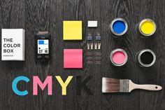 cmyk - the color box, design by manifiesto futura. For my hubby- the color guy Site Design, Box Design, Layout Design, Print Design, Design Ideas, Pantone, Things Organized Neatly, Branding, Print Layout