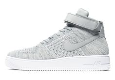 best service 7e248 fcb6a Nike Air Force 1 Mid Flyknit Heather Grey